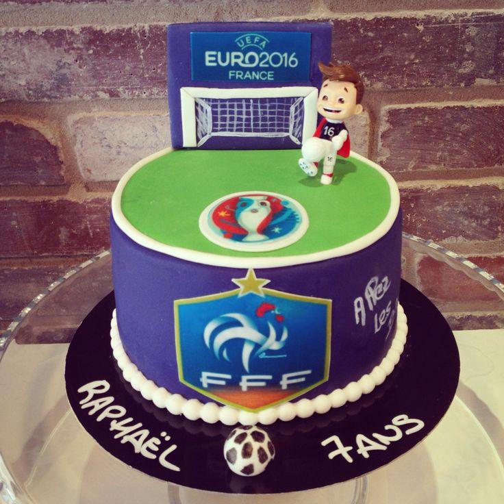 soccer cake gteau foot euro 2016 allez les bleus fff