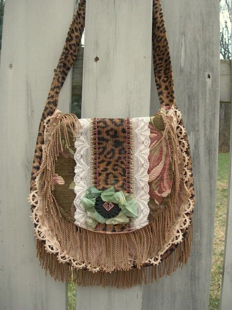 Handmade Fabric Purse  Boho Chic Style Carpet ♥ by GlorybyJeannieLee, $90.00