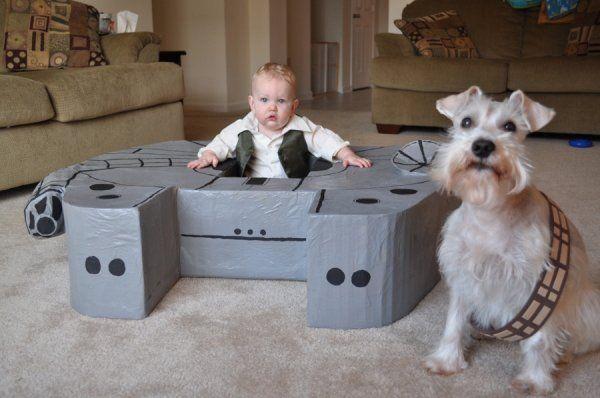 Mini Han and Chewie!