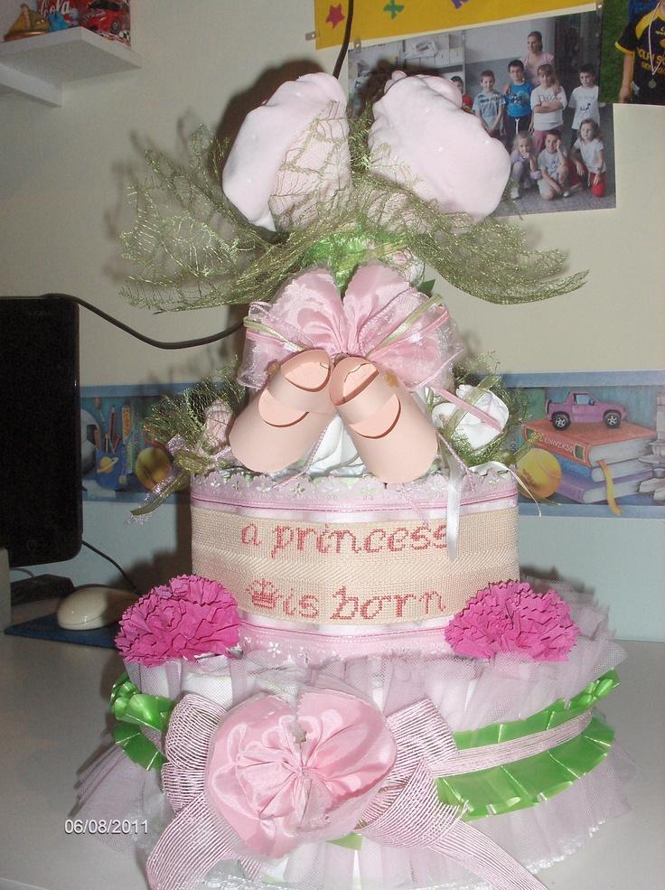 torta di pannolini. è nata una principessa