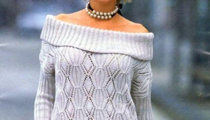 Lavori a maglia, crea con fantasia il tuo maglione grigio chiaro