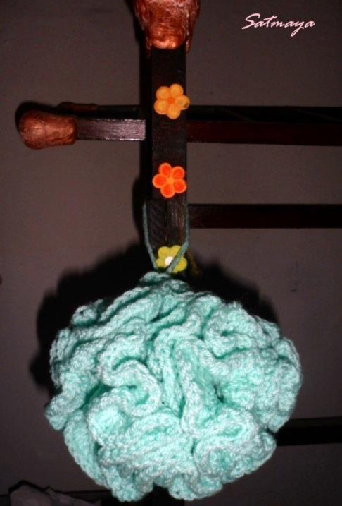 crochet loofah(bath puff)