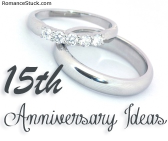 A complete list of traditional 15th anniversary gifts and modern 15th anniversary gifts, plus romantic 15th anniversary ideas.