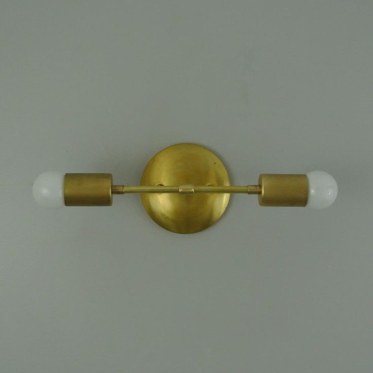 Straight Double Bare Bulb Wall Sconce