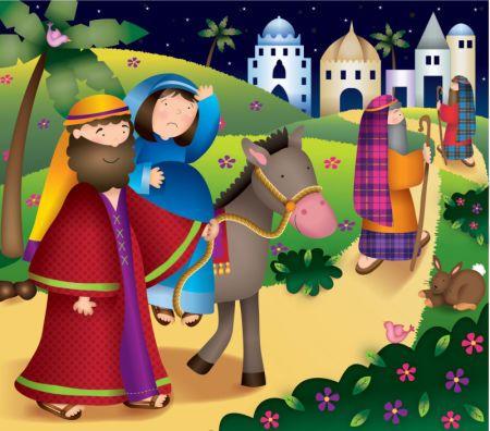 JOSÉ Y MARÍA, CAMINO HACIA BELÉN. JESÚS ESTÁ POR NACER. ALELUYA !!!