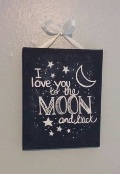 8x10 I love you to the moon and back painting by NatalieLDesigns