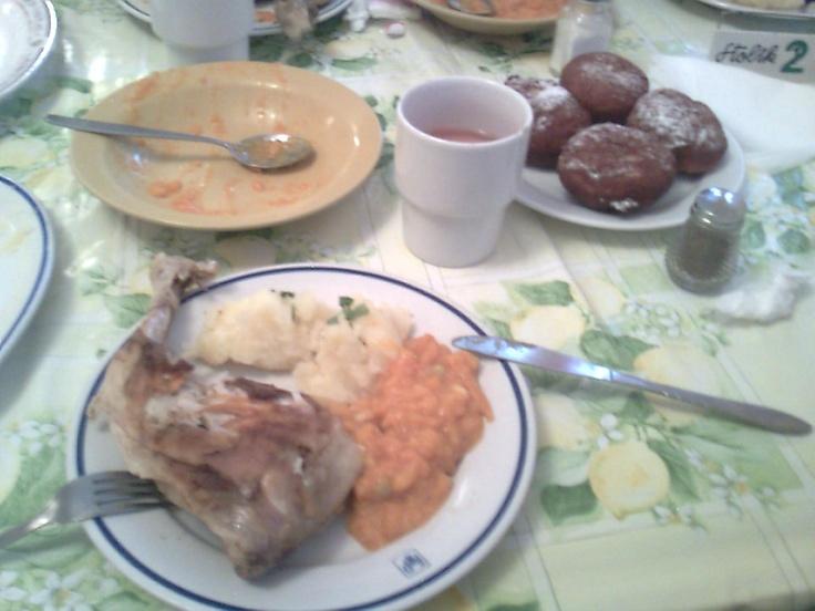Good cheap dinner in colony canteen. Międzyzdroje.
