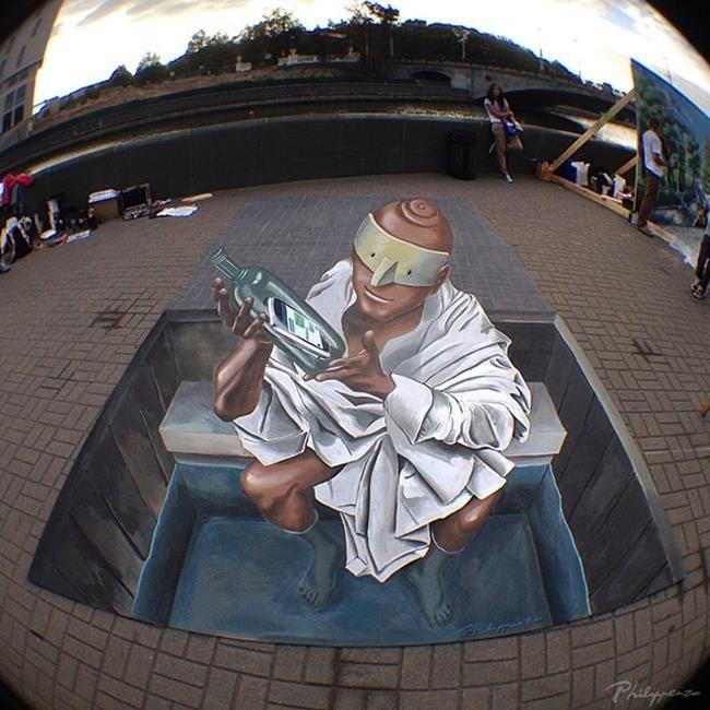 Philip Penzo'dan Gerçekliğe Meydan Okuyan 3D Sokak Sanatı Örnekleri Sanatlı Bi Blog 16