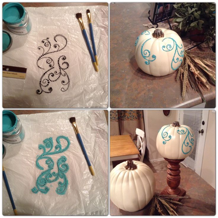 Creating fall decor for my Origami Owl booth.