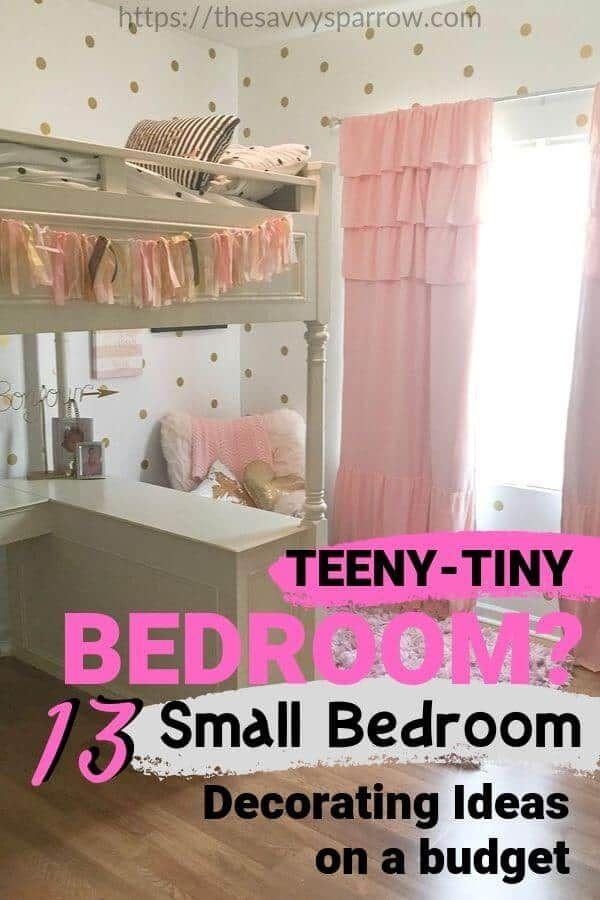 13 Small Bedroom Decorating Ideas On A Budget Small Girls