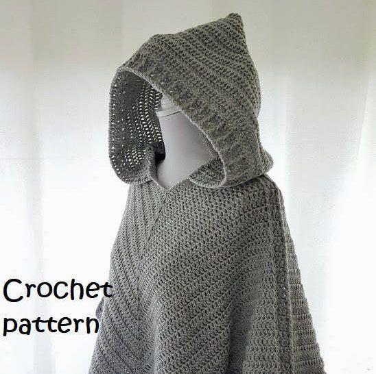 Haakpatroon Poncho Haakpatroon Cape Pattern Hooded Vesten