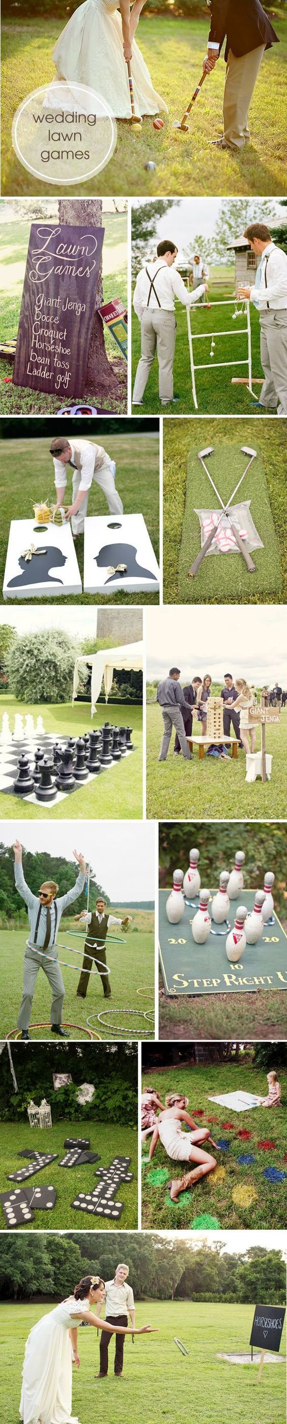 Don't have a typical wedding. Plan fun games for the whole party to enjoy! #DIYWedding