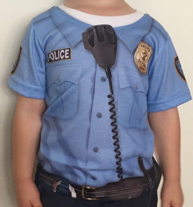 Costume Policeman Career Shirt Kids Dress-up