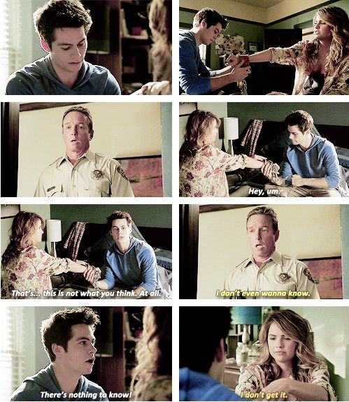 "S4 Ep4 ""The Benefactor"" - Sheriff Stilinski, Stiles and Malia"
