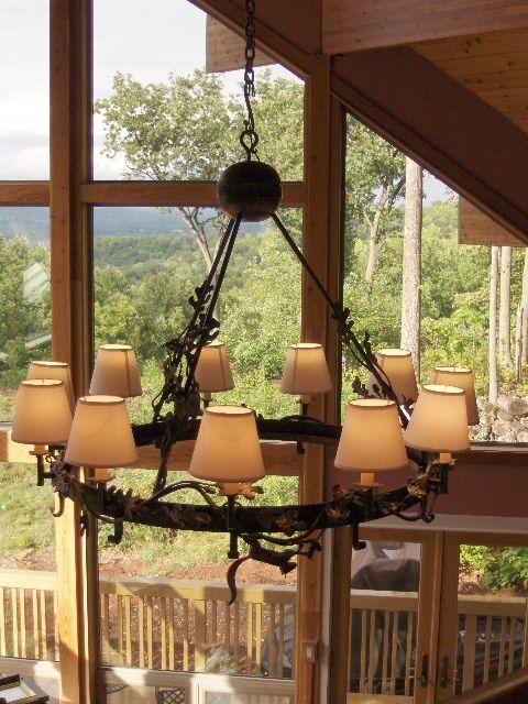 17 best images about log home lighting on pinterest for Log cabin chandelier