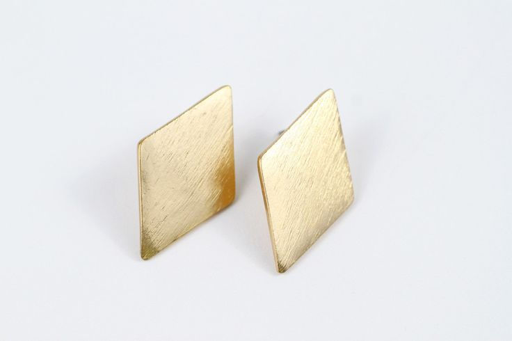Brushed Diamond Earrings | Moorea Seal