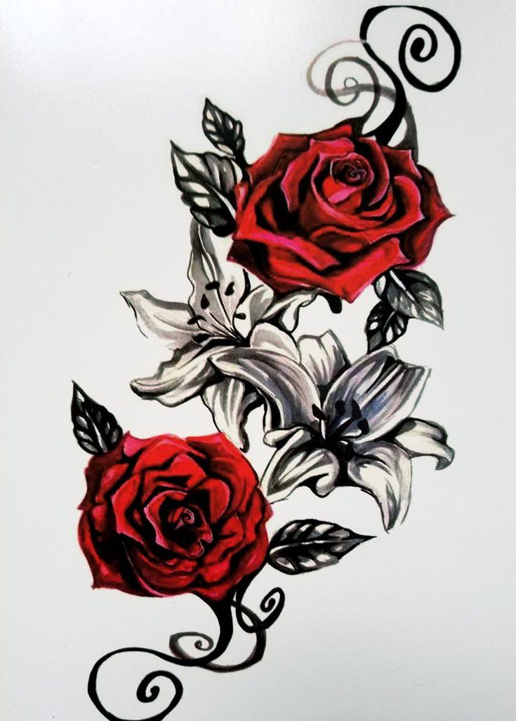 Vintage Red Rose Temporary Tattoo – Stephanie Schaper
