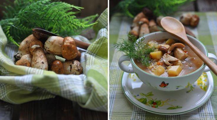 Суп грибной с перловкой и овощами 2 л воды 1 маленькая морковь 1 маленькая луковица 1 маленький кабачок (около 150 г) 200 г грибов (у меня белые) 2 картофелины 4 ст. л. сухой перловки 2 зубчика чеснока 1 небольшой помидор зелень резаная для подачи сметана для подачи соль, специи, растительное масло