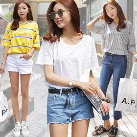 Gmarket - DARLLYSHOP T-shirt collection / striped / solid colo...