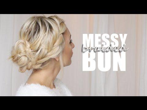Dagens hår tutorial – Messy braided bun | Helen Torsgården – Hiilens sminkblogg