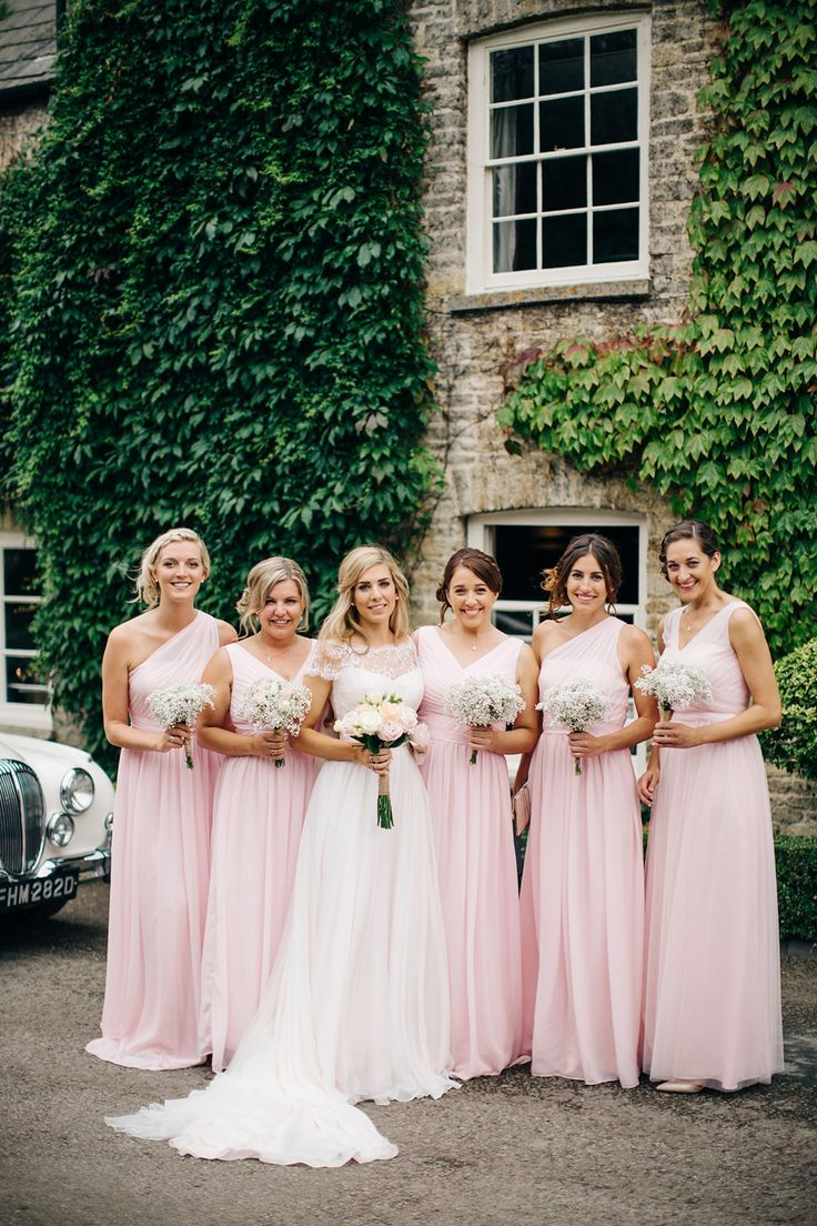 Bridesmaids wear for pale pink gowns from For Her & For Him| Photography by http://www.mandjphotos.com/