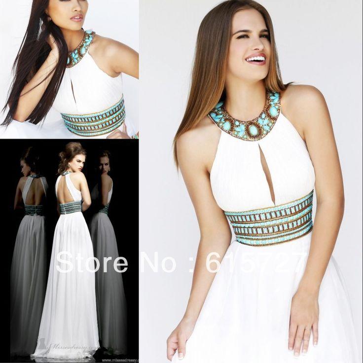 vestidos largos de fiesta sencillos sencillo vestido largo blanco