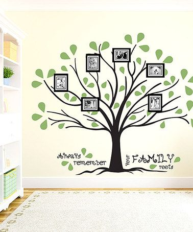 Take a look at this Black & Olive 'Family Roots' Wall Decal Set by Sissy Little on #zulily today!