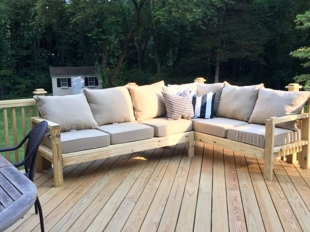 One Arm 2x4 Outdoor Sofa Sectional Piece Diy Patio Furniture