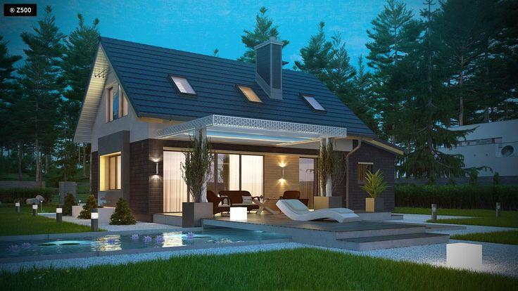 Projekty domów Z500, Domy jednorodzinne, taras