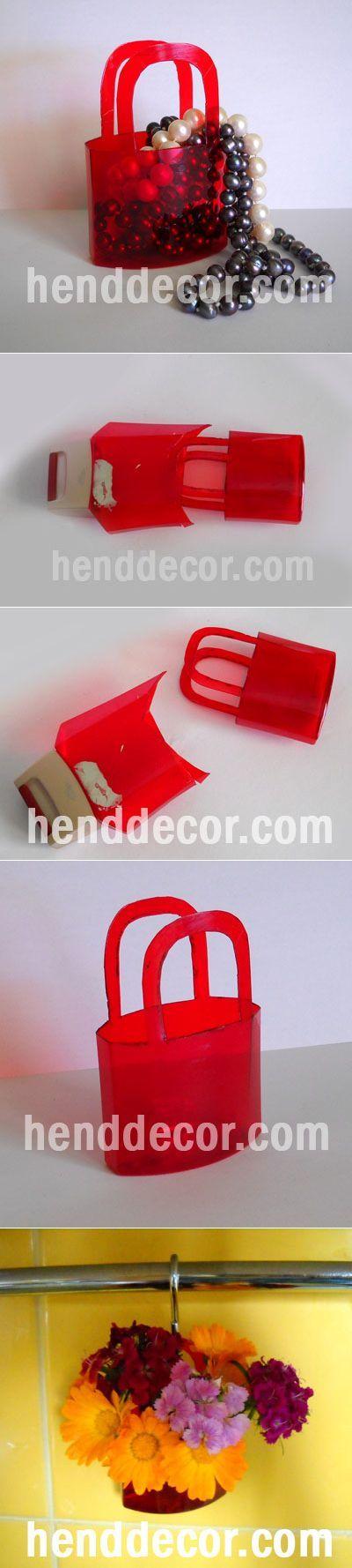 Мини-сумочка из пластиковой бутылки | Калейдоскоп декора