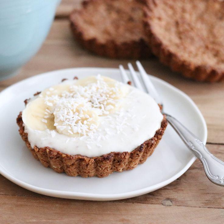 (Ontbijt)gebakjes met banaan en kokos