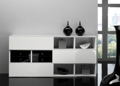Sideboard weiss/ schwarz hochglanz Jetzt bestellen unter: https://moebel.ladendirekt.de/wohnzimmer/schraenke/sideboards/?uid=ef540472-74ff-5344-943b-a9d4c410a4e3&utm_source=pinterest&utm_medium=pin&utm_campaign=boards #schraenke #wohnzimmer #sideboards