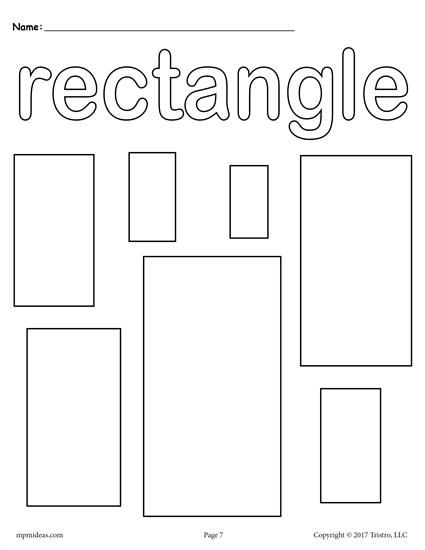 parallelograms coloring pages | Parallelogram Coloring Pages