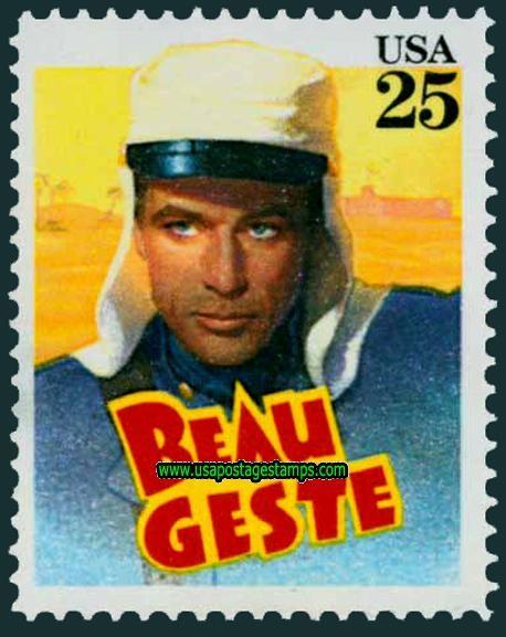 Commemorative Stamp | Commemorative Stamps: 25c Gary Cooper \'Beau Geste\'. Classic Films ...