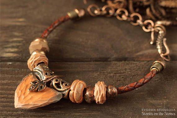Arrowhead Boho brown bracelet Protection amulet Unisex Cord