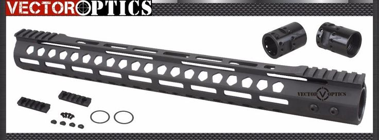 [Visit to Buy] Vector Optics M-LOK 17 inch Free Float Handguard Picatinny Rail Mount Bracket with Steel Barrel Nut Shims fit AR15 M4 M16 #Advertisement