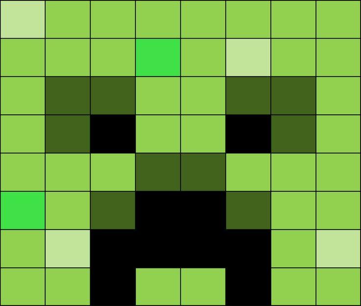 Creeper Face Minecraft Cake