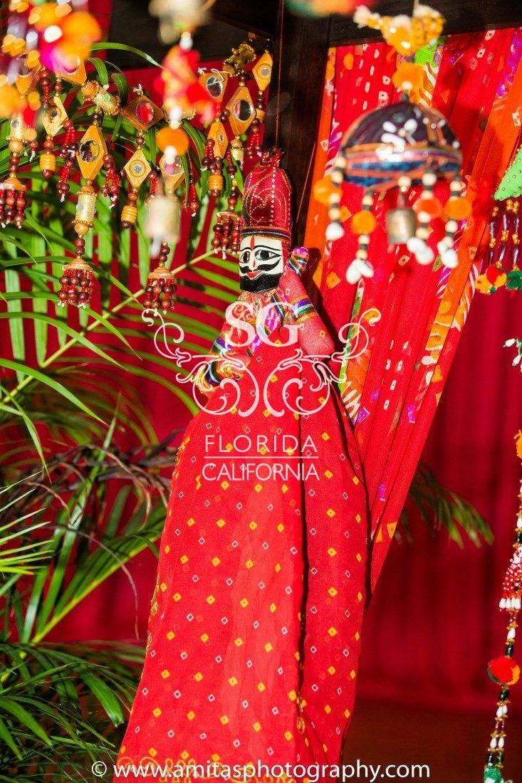 Suhaag Garden, Indian Wedding Decorators, Florida Indian Wedding Decorators, Indian Weddings, Garba, Colorful Garba Decor, Gujarati Wedding, Food Carts, Rajasthani Danglers, Hanging Bells, Colorful Drapery, Indian Cultural Center