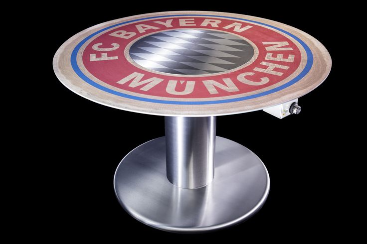 Some Friday FC fun: A custom-designed FC Bayern Munich Cook-N-Dine Teppanyaki table!