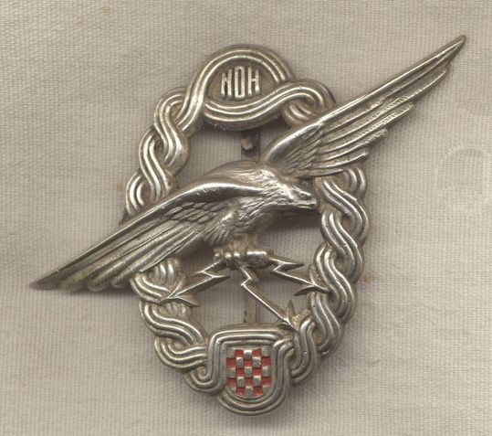 WWII Croatian Air Force Radio Operator/Gunner Badge