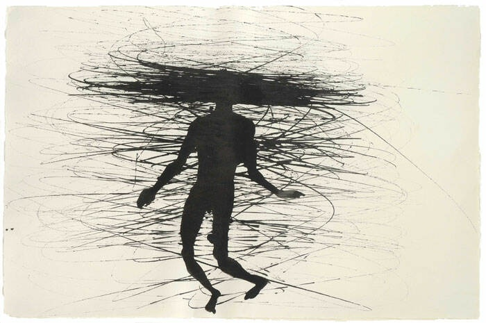 Anthony Gormley feeling material