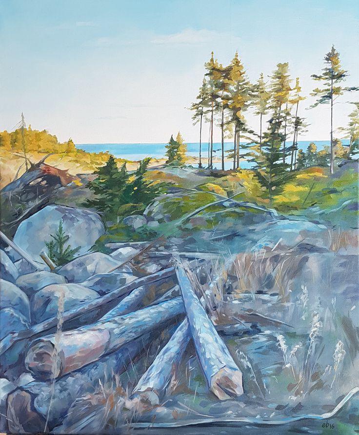 Vid Svenskär.  #målning #oljemålning #oljemålningar #konst #erikspalett #painting #oilpainting #oilpaintings #art #artist #sweden #härnösand #häggdånger #oil #colors #oilcolor #colour #oilcolour