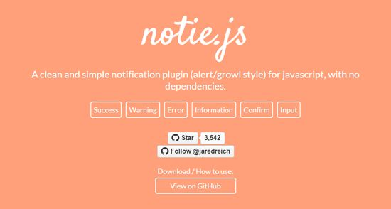 Notie.js Notification Plugin