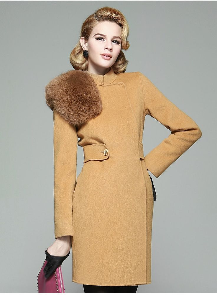 Tan Cashmere Coat | Down Coat
