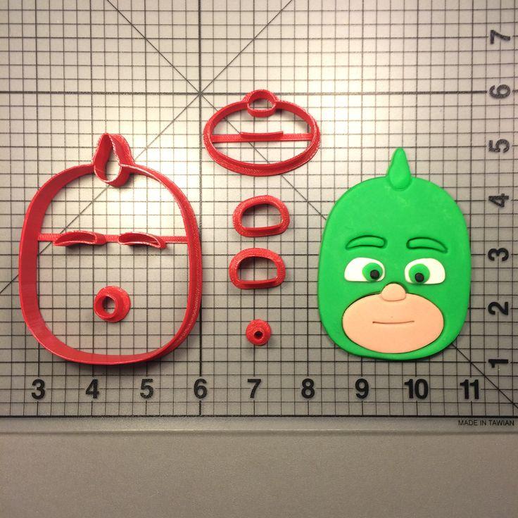 PJ Masks- Gekko Cookie Cutter Set JBCookieCutters.com customizes moldings, cookie cutters, cookie cutter, cutters, cutter, silicone mold, silicone molds, stencil, stencils, baking supplies, baking