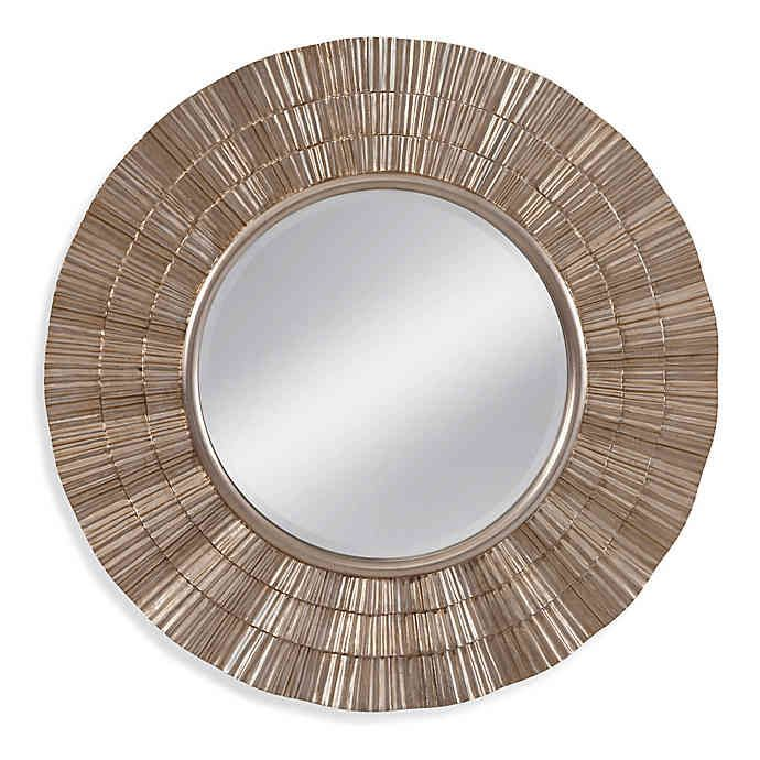 Basset Mirror Company Luana 36 Inch Round Mirror In Silver Bed Bath Beyond Mirror Wall Wall Mirror Online Mirror Decor 36 inch round mirror