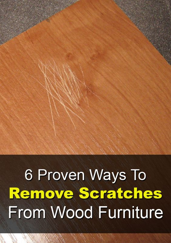 6 maneras probadas para quitar los arañazos de muebles de madera