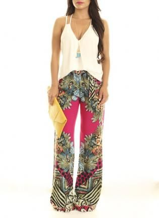 floral palazzo pants #printedpants