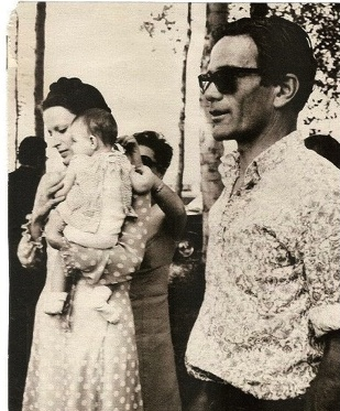 """Silvana Mangano and Pier Paolo Pasolini on the set of """"Edipo Re"""" 1967"""
