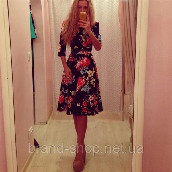Праздничное платье в цветочек для девочек